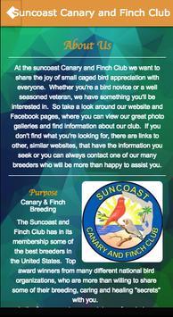 Suncoast Canary and Finch Club apk screenshot