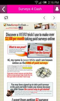 Surveys 4 Cash poster