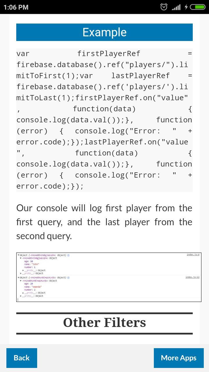 Firebase Database Query