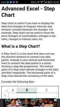 Learn Advance Excel Charts apk screenshot