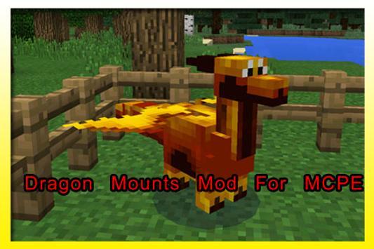 Dragon Mounts Mod For MCPE poster