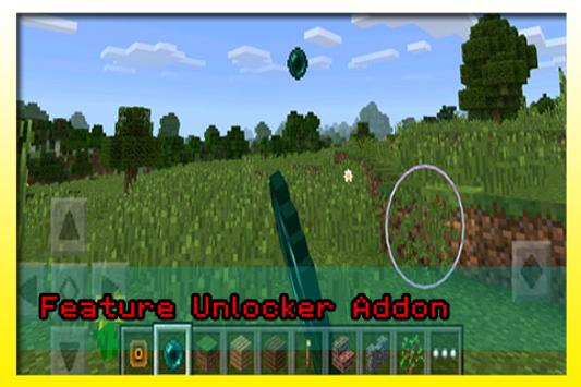 Feature Unlocker Addon MCPE apk screenshot
