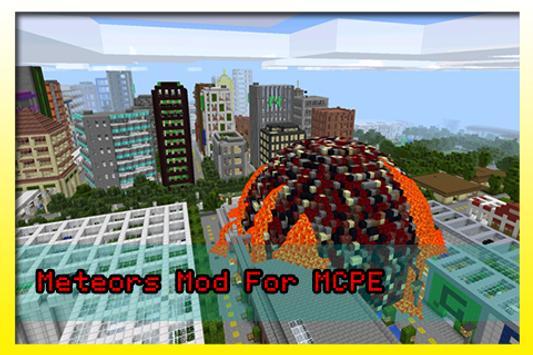 Meteors Mod For MCPE screenshot 2