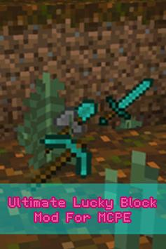 Ultimate Lucky Block Mod MCPE poster