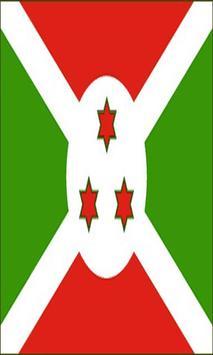 Burundi Flag poster
