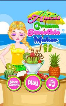 Cream Smoothie Maker -Kid Game poster