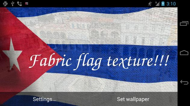 3D Cuba Flag Live Wallpaper Apk Screenshot