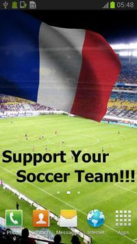 3D France Flag Live Wallpaper poster