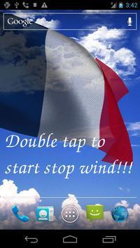 3D France Flag Live Wallpaper apk screenshot