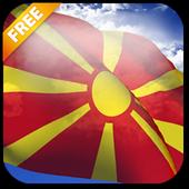 3D Macedonia Flag LWP icon