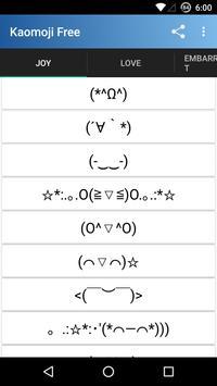 Kaomoji: Emojis Japoneses Free poster