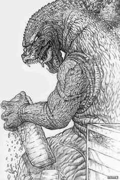 Draw Monster Godzilla Easy poster