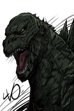 Draw Monster Godzilla Easy apk screenshot