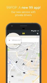 99 POP - Carros e Táxis Cartaz