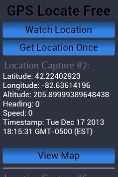 GPS Locate Free apk screenshot