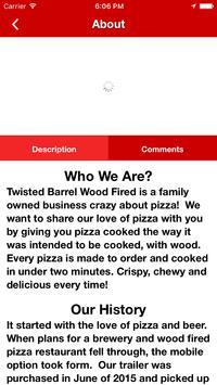 Twisted Barrel Pizza apk screenshot