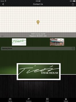 Tico's Steak House apk screenshot