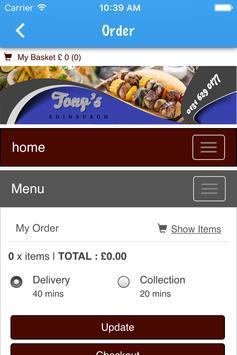 Tonys apk screenshot