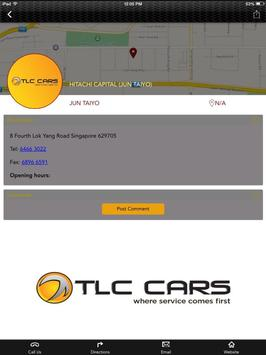 TLC Cars.SG poster
