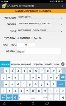 App_Transporte iPRISCO apk screenshot