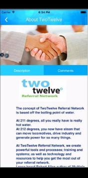 Two Twelve Referral Network apk screenshot