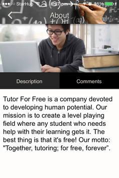 Tutor For Free apk screenshot
