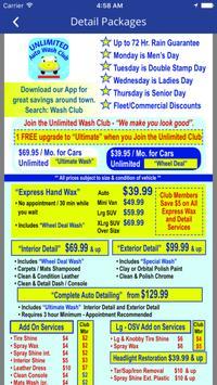 Unlimited Auto Wash Club. screenshot 2