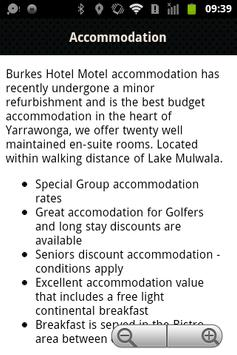 Burkes Hotel Motel Yarrawonga apk screenshot