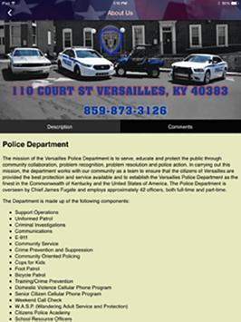 Versailles, KY Police Dept screenshot 7