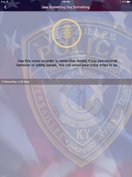Versailles, KY Police Dept apk screenshot