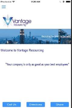 Vantage Resourcing Ltd poster