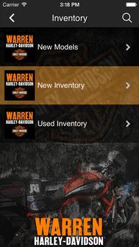 Warren Harley-Davidson screenshot 2