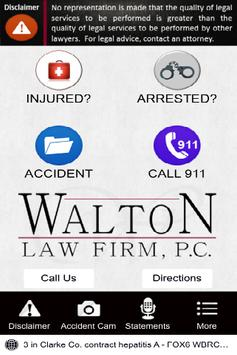Walton Law Firm App poster