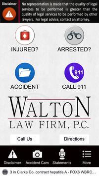 Walton Law Firm App apk screenshot