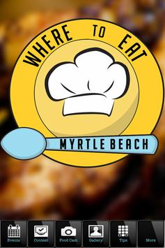 Where To Eat MYRTLE BEACH poster