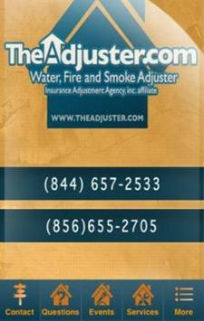 Fire & Water Damage Adjuster poster