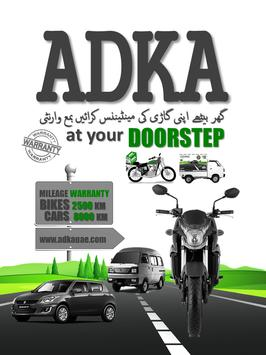 ADKA VEHICLE MAINTENANCE poster