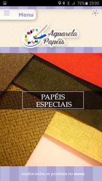 Aquarela Papéis poster