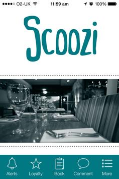 Scoozi Restaurant, Clevendon poster
