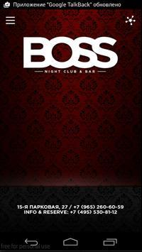 Bar BOSS poster