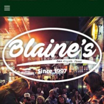 Blaine's Pub poster