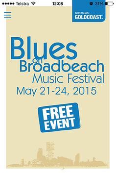 Blues On Broadbeach poster