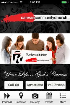 Canvas Community Church poster