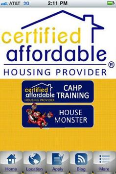 Certified Affordable Housing P poster