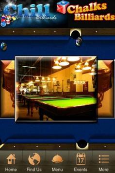 Chalks Chill Billiards poster