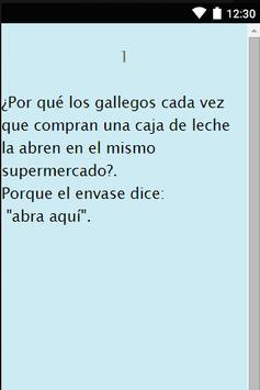 chistes de gallegos. apk screenshot
