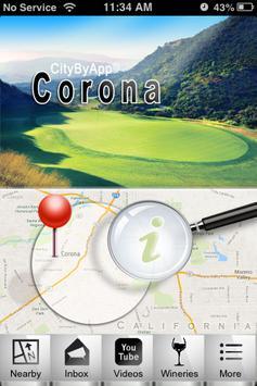 Corona, CA. poster