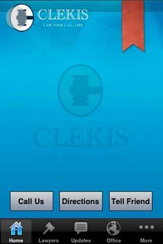 The Clekis Law Firm poster