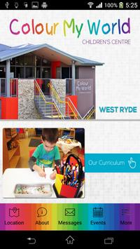 Colour My World West Ryde poster