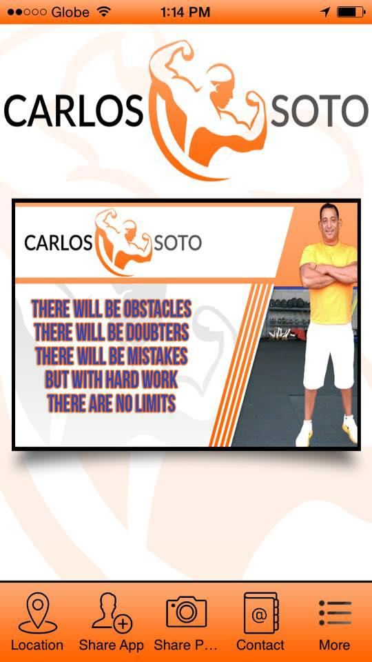 Carlos Soto Personal Fitness poster